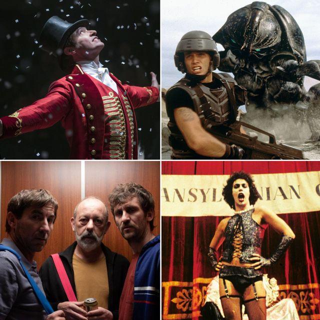 el gran showman, starship troopers, el plan y the rocky horror picture show