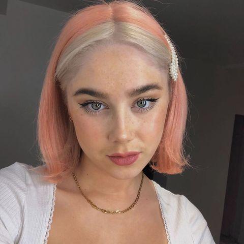 Dos colores en el pelo