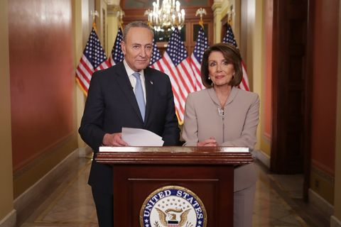 Democratic Leadership House Speaker Nancy Pelosi And Sen. Chuck Schumer Issue Response To President's Border Security Address