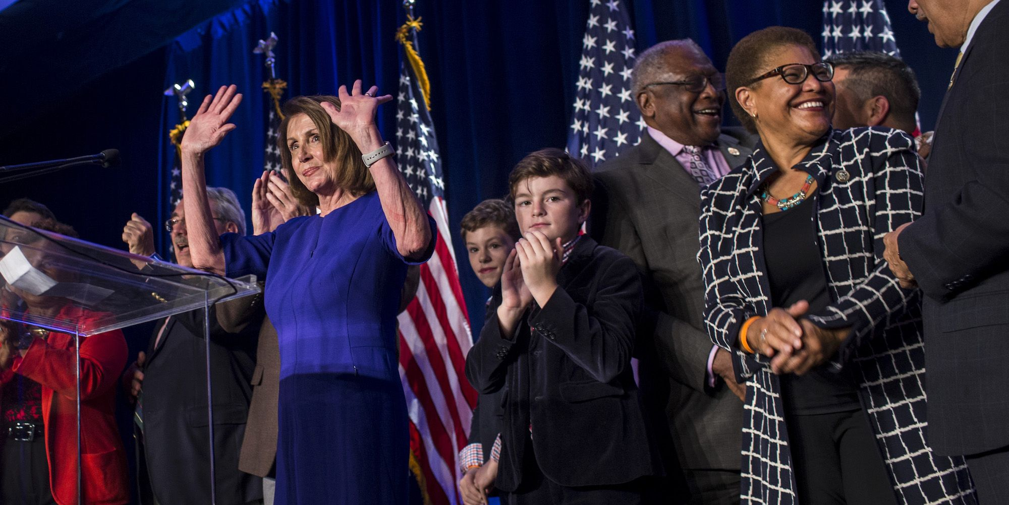 Nancy Pelosi And Congressional Democrats Gather In Washington DC For Election Night