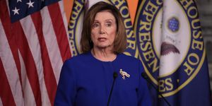Speaker Nancy Pelosi Speaks To The Press In Weekly News Conference