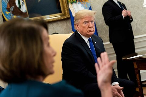 Nancy Pelosi Just Mocked the President* to His Face in the Oval Office