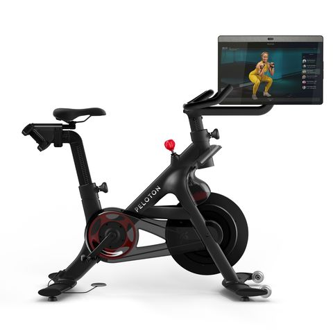 The elegantly designed Peloton bike fits into any room and any design aesthetic