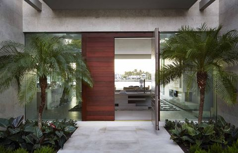 Building, House, Property, Architecture, Home, Interior design, Real estate, Courtyard, Tree, Room,