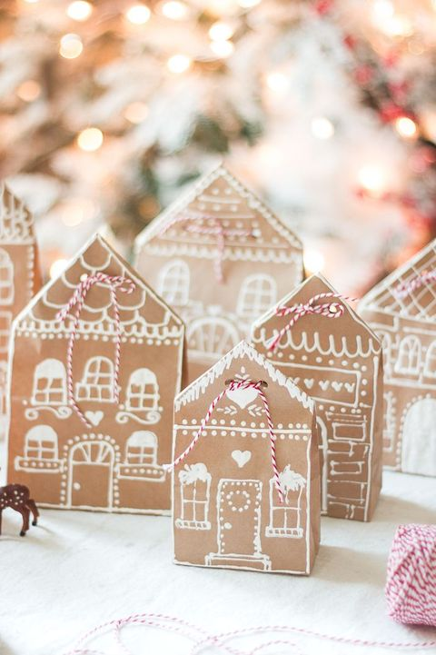 paint pen decorations christmas gift wrapping ideas