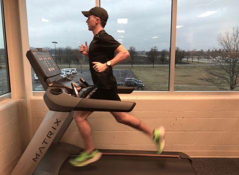 Tyler Pence on treadmill
