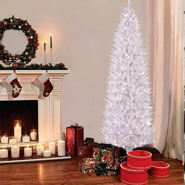 Pencil Christmas Tree.14 Best White Christmas Trees Best White Artificial