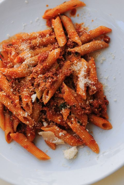 penne with ragout sauce