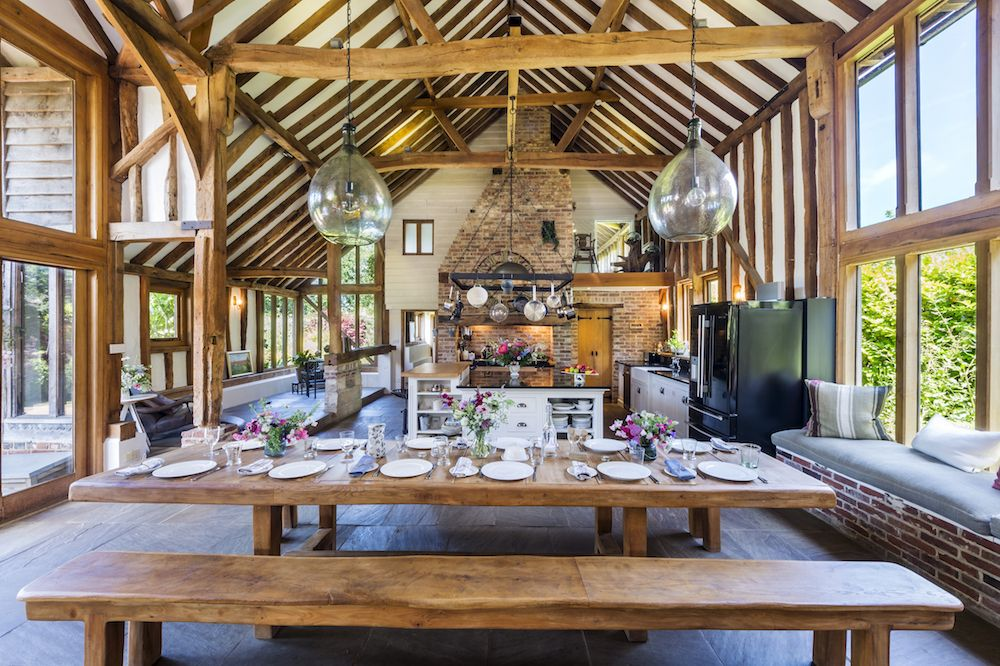18th century barn conversion with incredible interiors for sale in Sussex