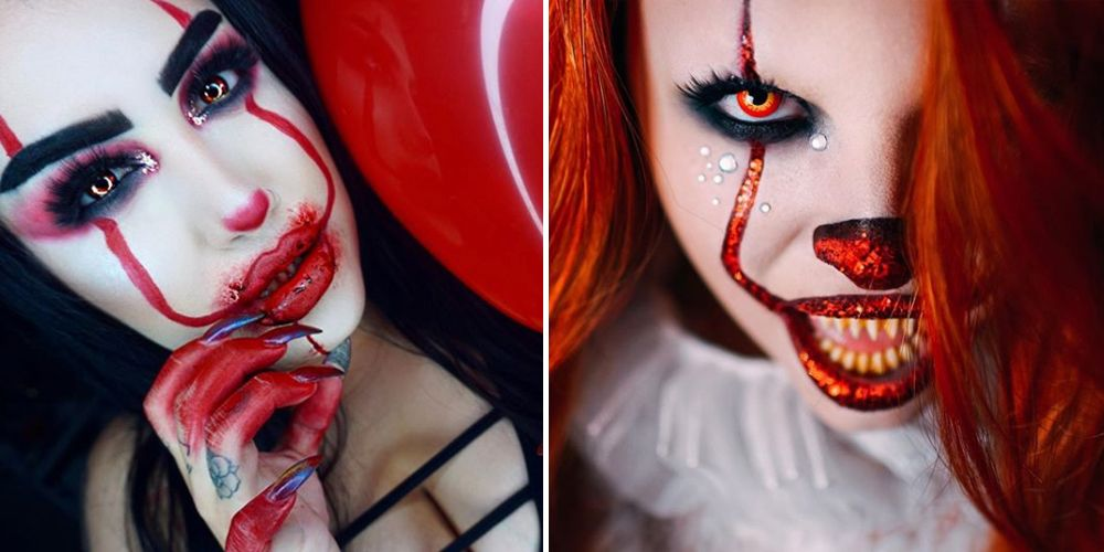 10 Scary Pennywise Clown Halloween Makeup Tutorials , It