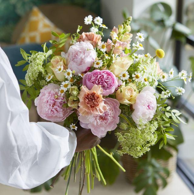 bloom  wild's peony flower bouquets
