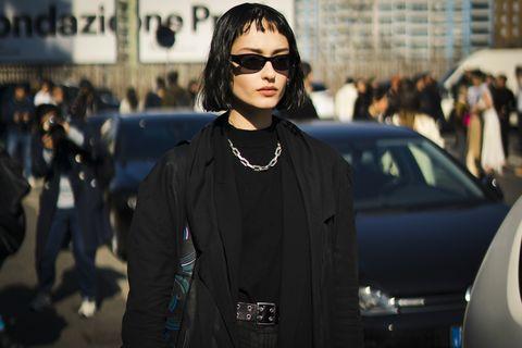 Street Style At MSGM Fashion Show: February 22 - Milan Fashion Week Fall/Winter 2020-2021