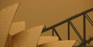 Sydney Blanketed In Smoke As Bushfires Continue To Burn Across NSW