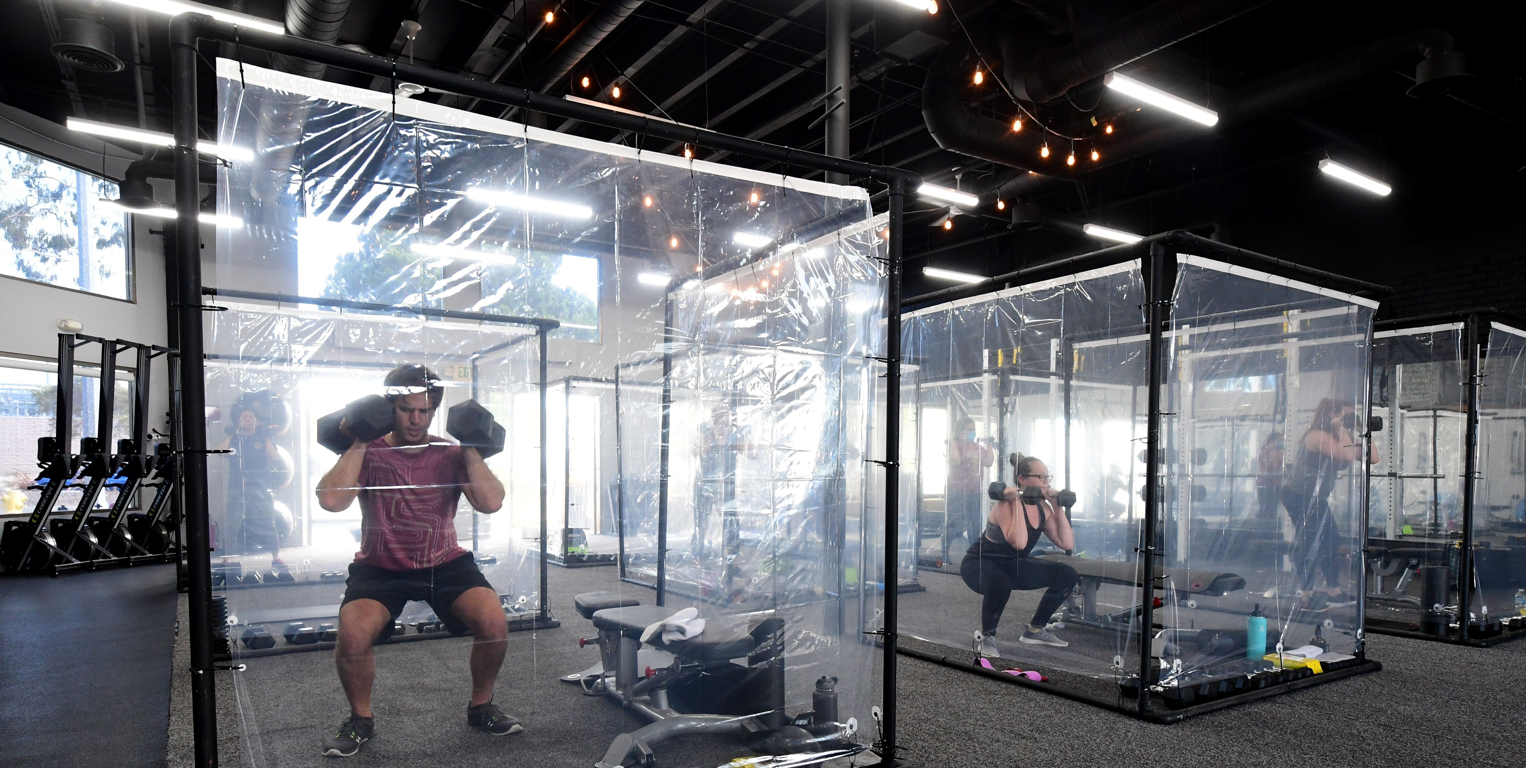 California Gym Uses Personal Pods for Classes After Coronavirus
