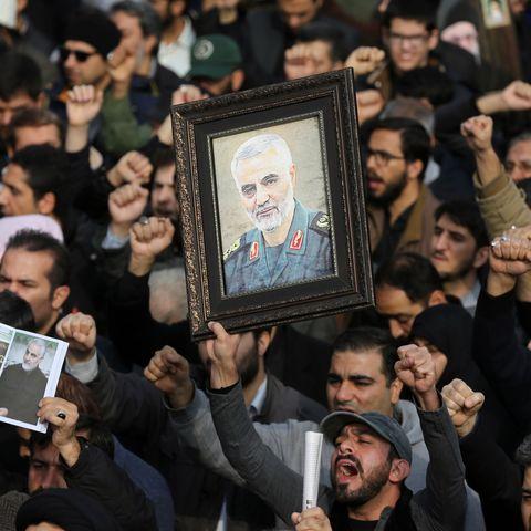 Protest in Iran after killing of Iranian Revolutionary Guards' Quds Force commander Qasem Soleimani