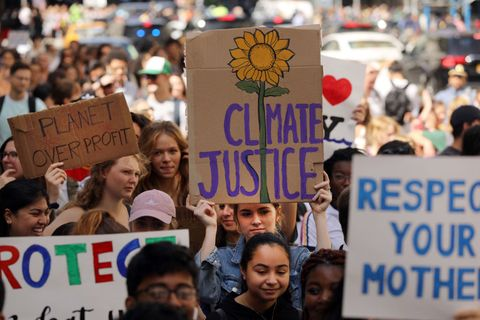 Thousands Of Americans Across The Country Participate In Global Climate Strike