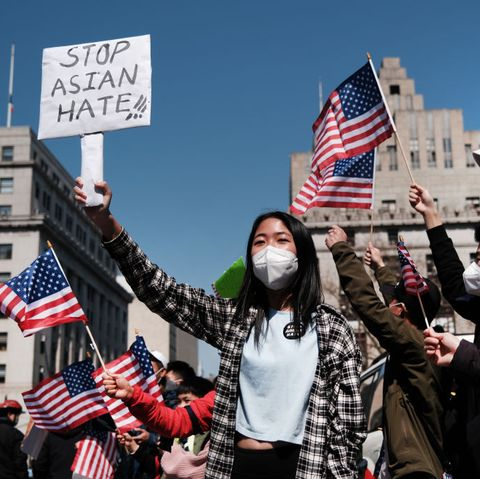 large rally to stop asian hate held in new york city