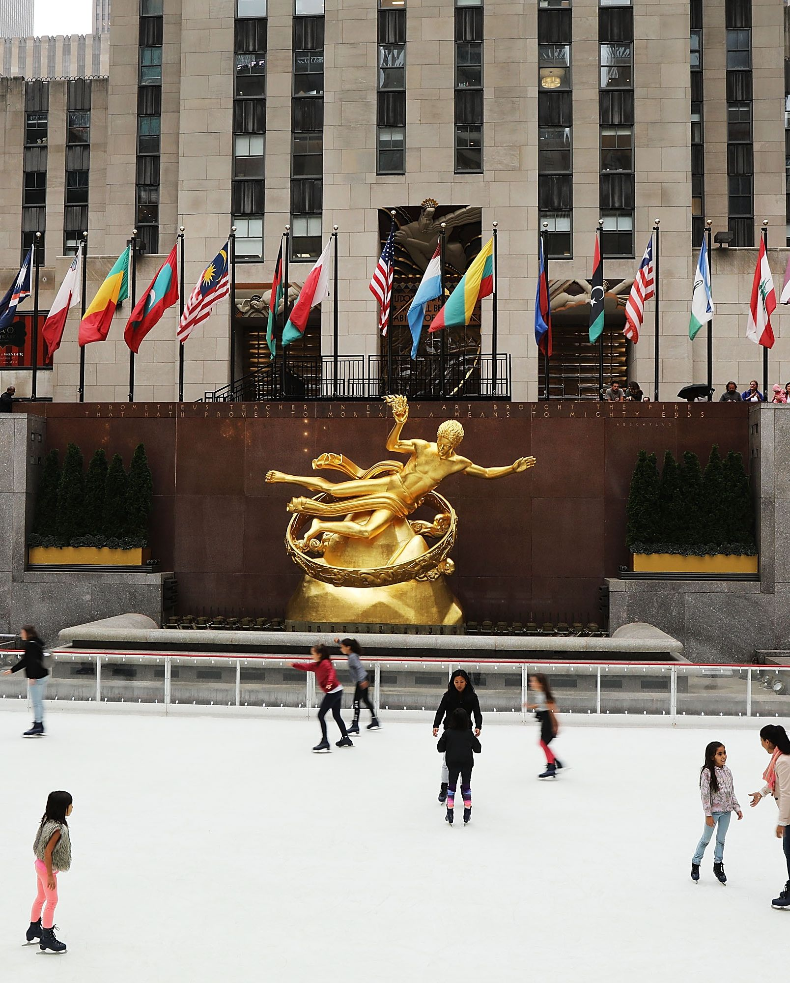 New York's Rockefeller Center Ice Rink Opens For The Season