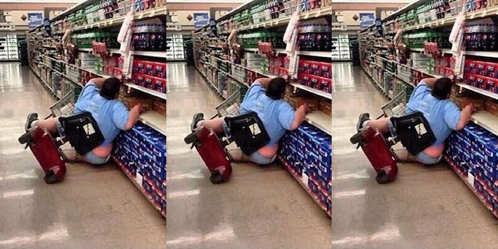 21639c80b62 Woman Mocked for Falling Out of Cart at Walmart Speaks Out About Becoming a  Meme
