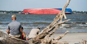 Cargo Ship Capsizes Off Coast Of Georgia