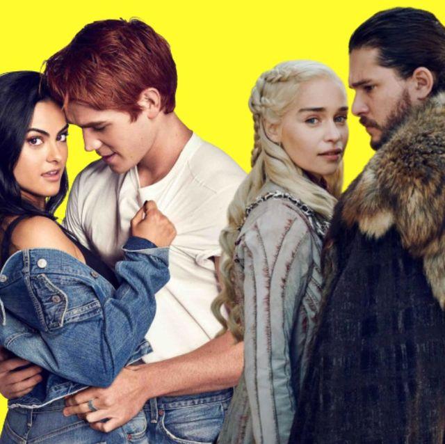 archie y veronica de riverdale y daenerys y jon nieve de juego de tronos