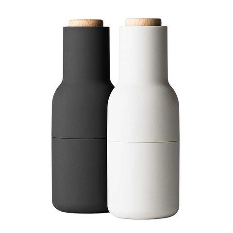 Peper- en zoutstel, zwart, wit, molen