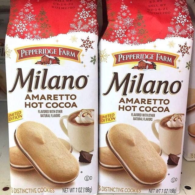 pepperidge farm milano amaretto hot cocoa cookies