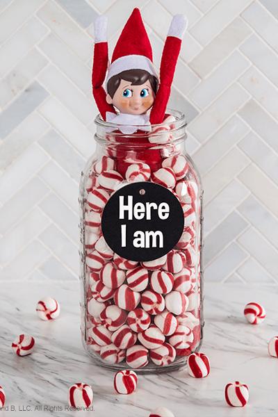 peppermint elf on the shelf return idea