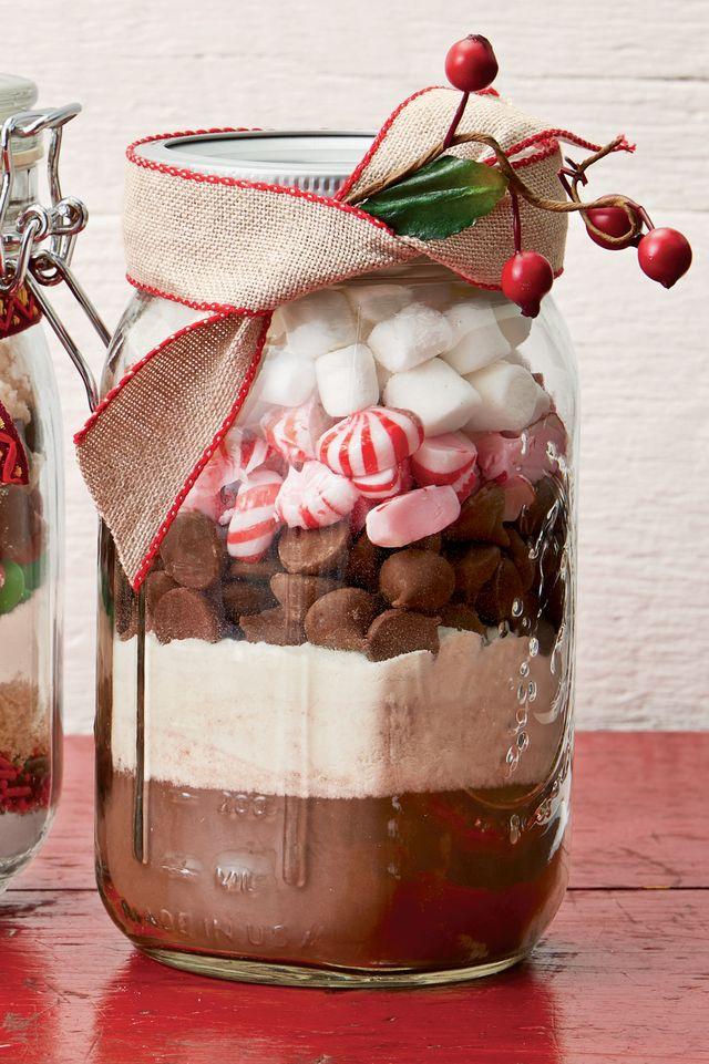 peppermint hot cocoa mix jar
