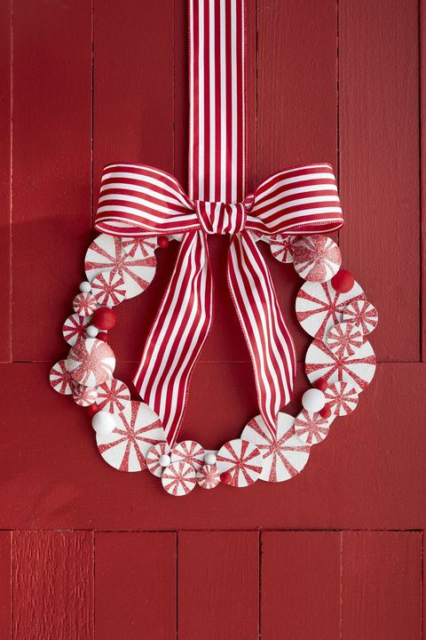 peppermint wreath christmas crafts