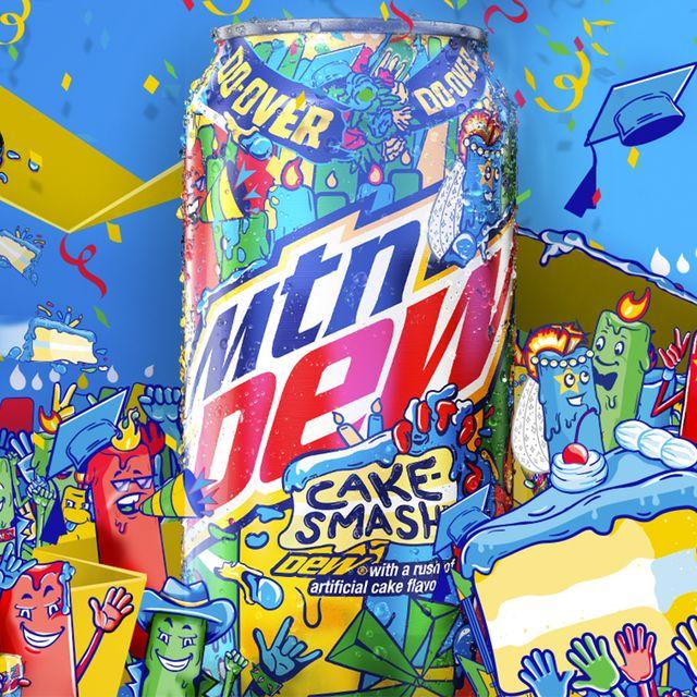 pepsico mountain dew cake smash soda