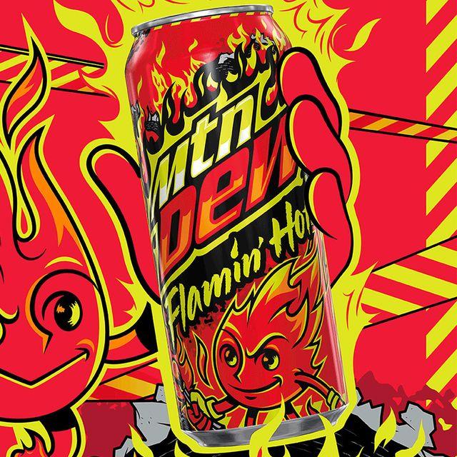 pepsico mountain dew cheetos flamin' hot soda