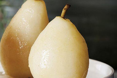 peras confitadas con azúcar