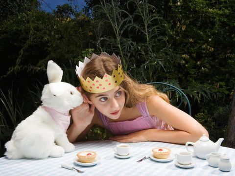Serveware, Dishware, Rabbits and Hares, Sharing, Rabbit, Tableware, Plate, Toy, Domestic rabbit, Meal,