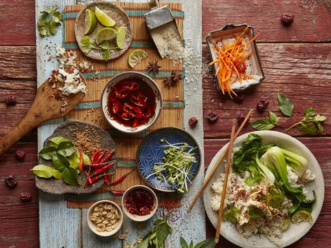 Wood, Food, Ingredient, Cuisine, Dish, Tableware, Dishware, Meal, Bowl, Leaf vegetable,