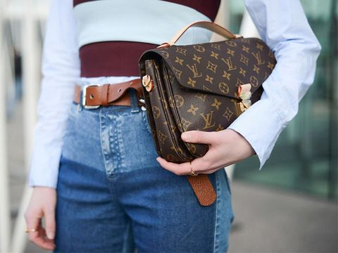 Brown, Denim, Bag, Textile, Style, Luggage and bags, Pattern, Street fashion, Shoulder bag, Fashion,