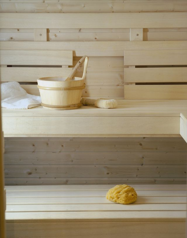 traditional wooden sauna