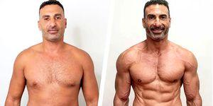 perder peso y ganar músculo transformación real