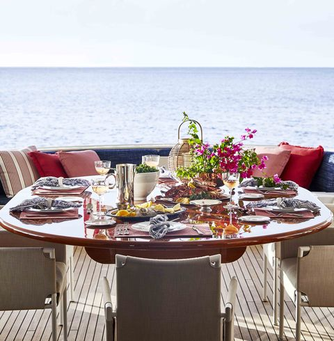 perennials sutherland yacht dining table