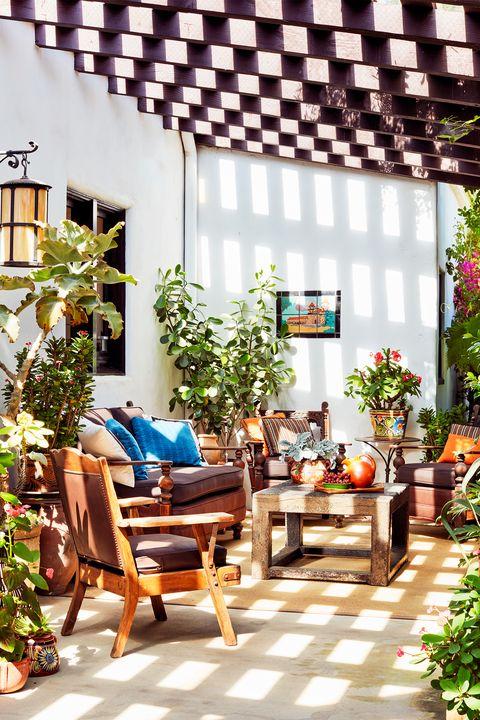 backyard patio with pergola