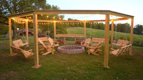 image - 20 Backyard Lighting Ideas - How To Hang Outdoor String Lights