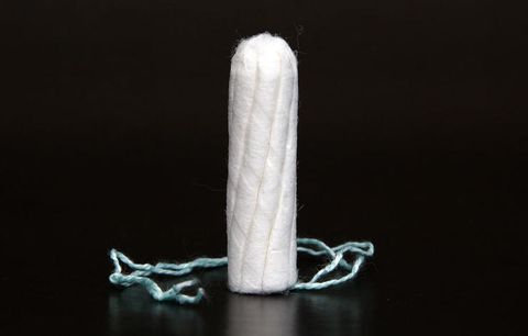 Using tampons and pads made with rayon or bleached cotton