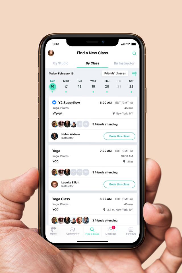 fitgrid class app