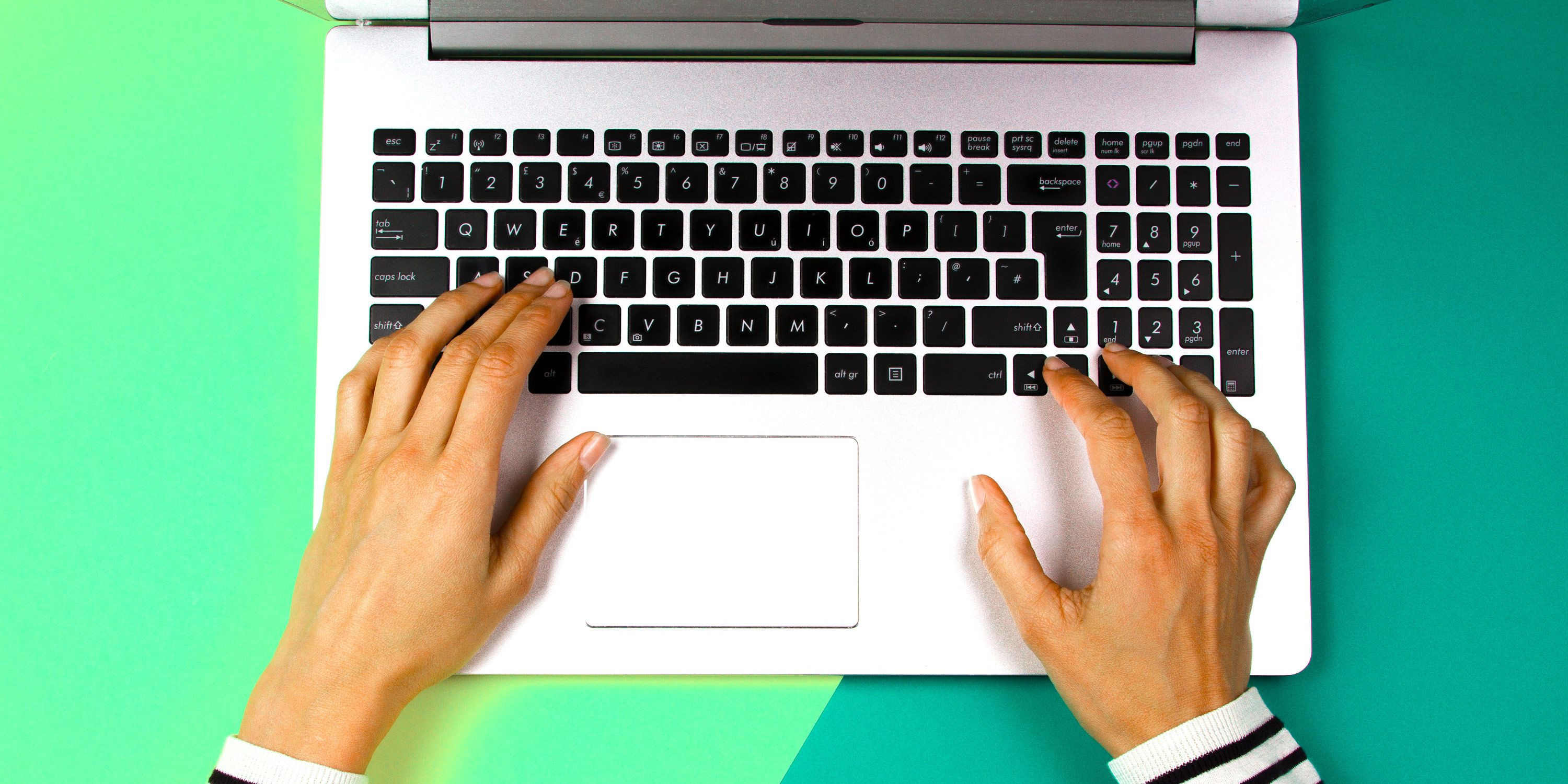 Generic stock image of a person using a laptop