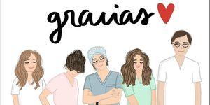 Dibujo personal sanitario