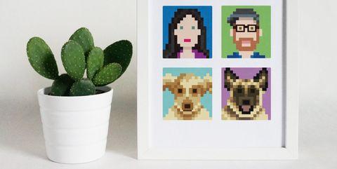 personalized 8-bit family portrait