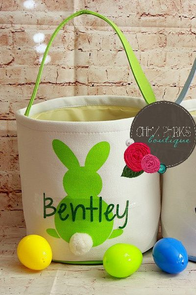12 Personalized Easter Baskets Cute Monogrammed Easter