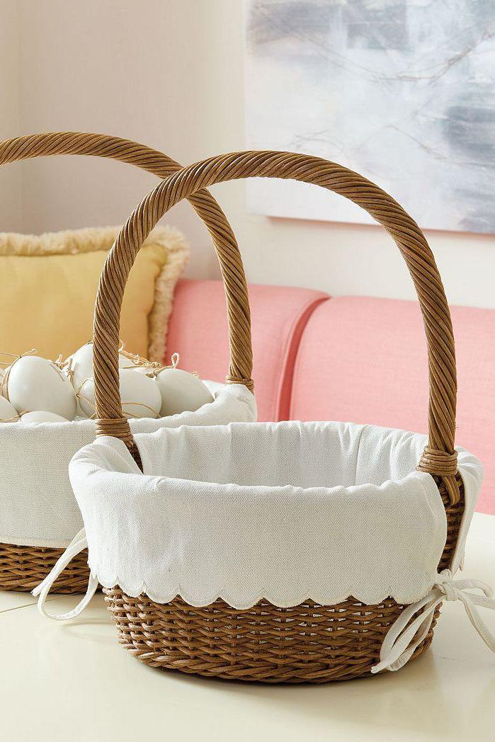Elegant Plush Easter Baskets Pics Of Basket Accessories