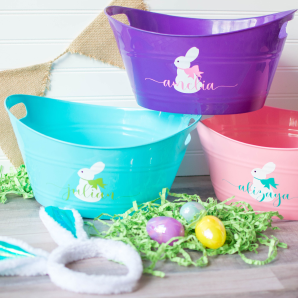 7c75bd4a 12 Personalized Easter Baskets - Monogrammed Baskets and Buckets for ...