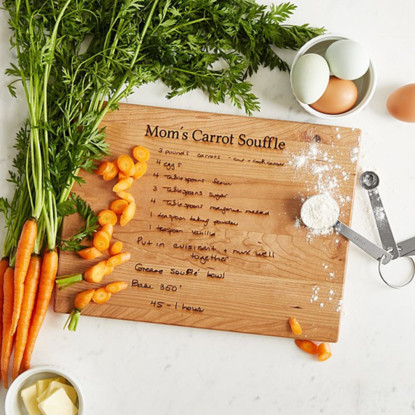 personalized mother's day gifts portrait recipe cutting board